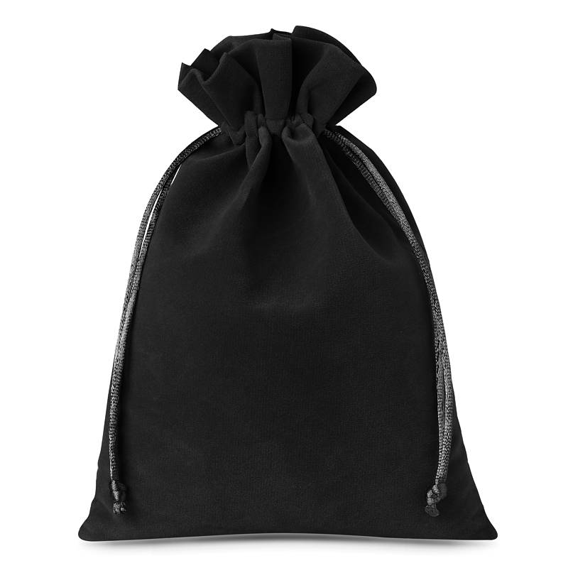 10 uds. Bolsas de terciopelo 12 x 15 cm - negro