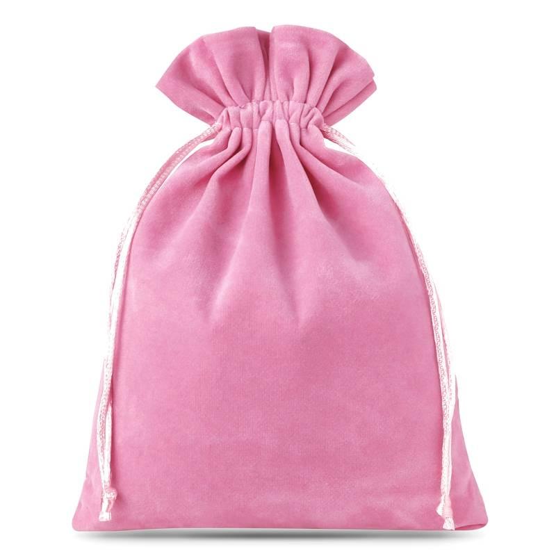 10 uds. Bolsas de terciopelo 12 x 15 cm - rosa claro