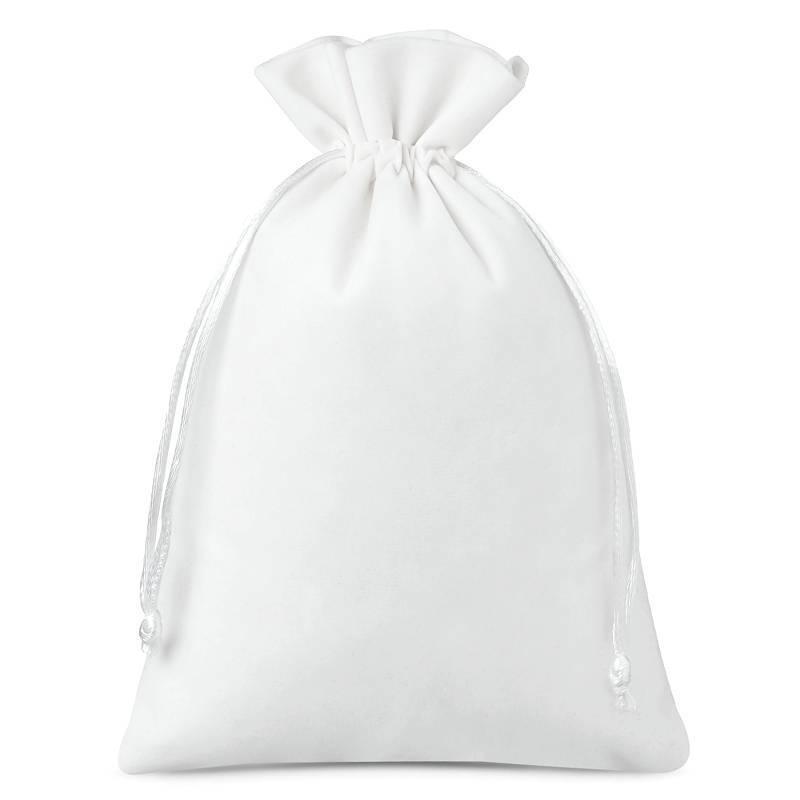 10 uds. Bolsas de terciopelo 12 x 15 cm - blanco