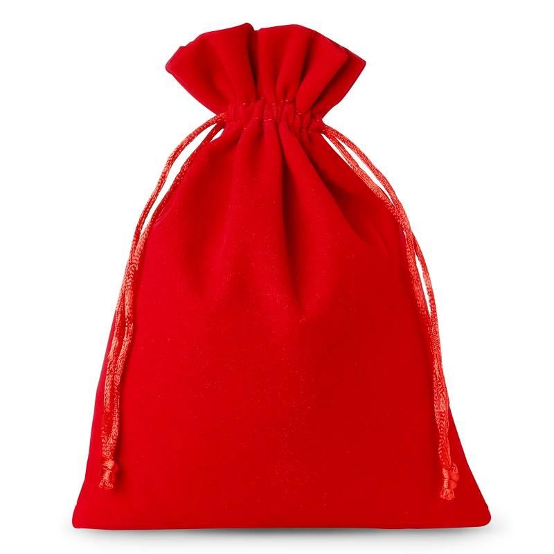 5 uds. Bolsas de terciopelo 15 x 20 cm - rojo