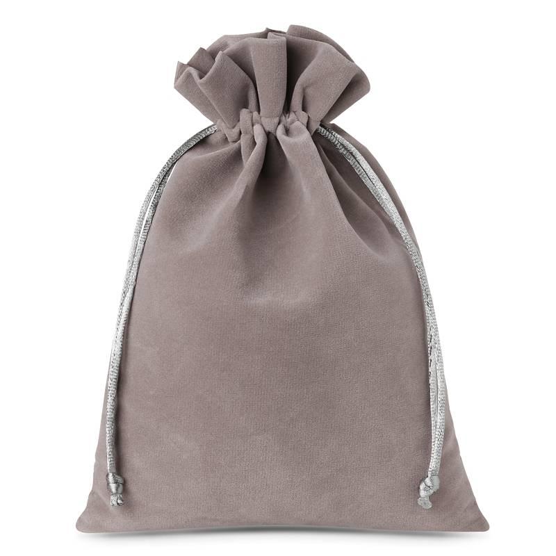 5 uds. Bolsas de terciopelo 22 x 30 cm - gris plata