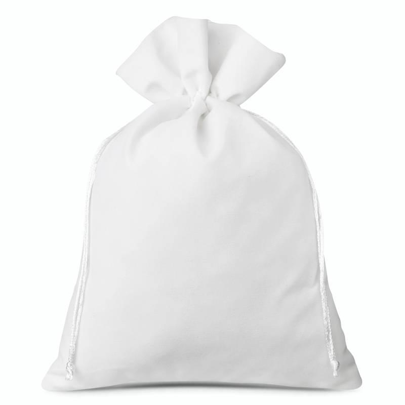 3 uds. Bolsas de terciopelo 26 x 35 cm - blanco