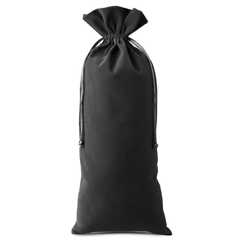 1 pz Bolsa de terciopelo 16 x 37 cm - negro