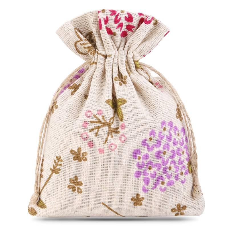 1 uds. Bolsa de lino con la impresión 11 x 14 cm - natural / serbal