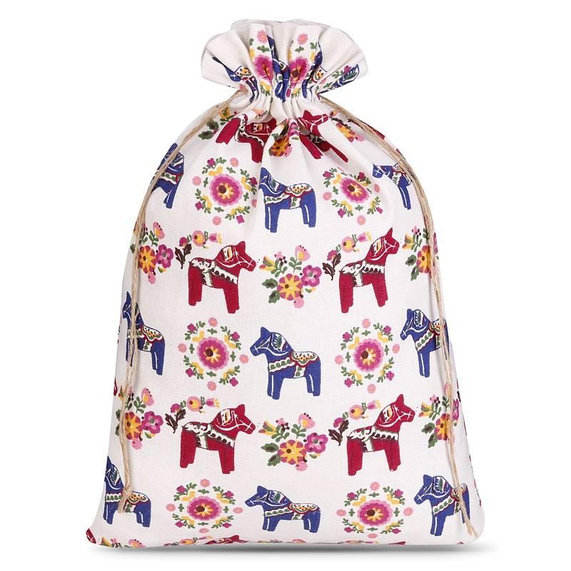 1 uds. Bolsa de lino con la impresión 30 x 40 cm - natural / caballo