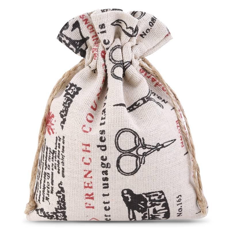 1 uds. Bolsa de lino con la impresión 11 x 14 cm - natural / sastrería
