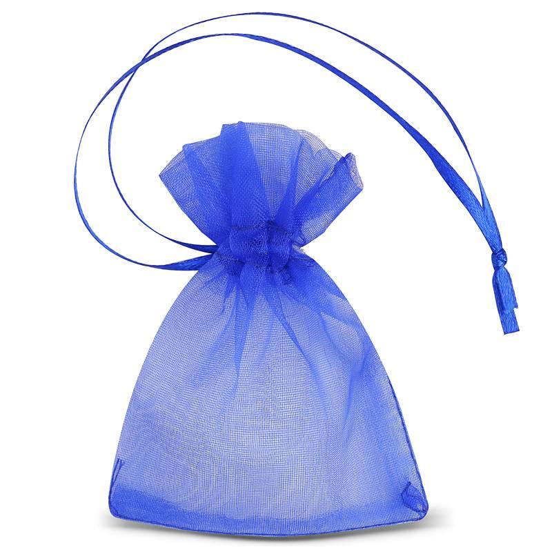 25 uds. Bolsas de organza 7 x 9 cm (SDB) - azul Decorativo Bolsas de organza