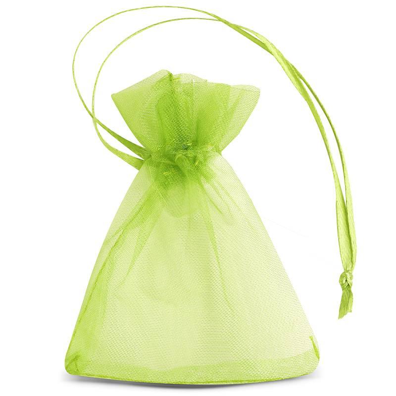 25 uds. Bolsas de organza 7 x 9 cm (SDB) - verde