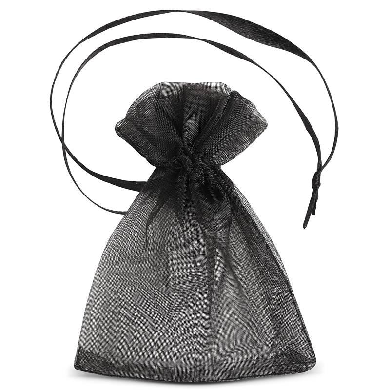 25 uds. Bolsas de organza 7 x 9 cm (SDB) - negro