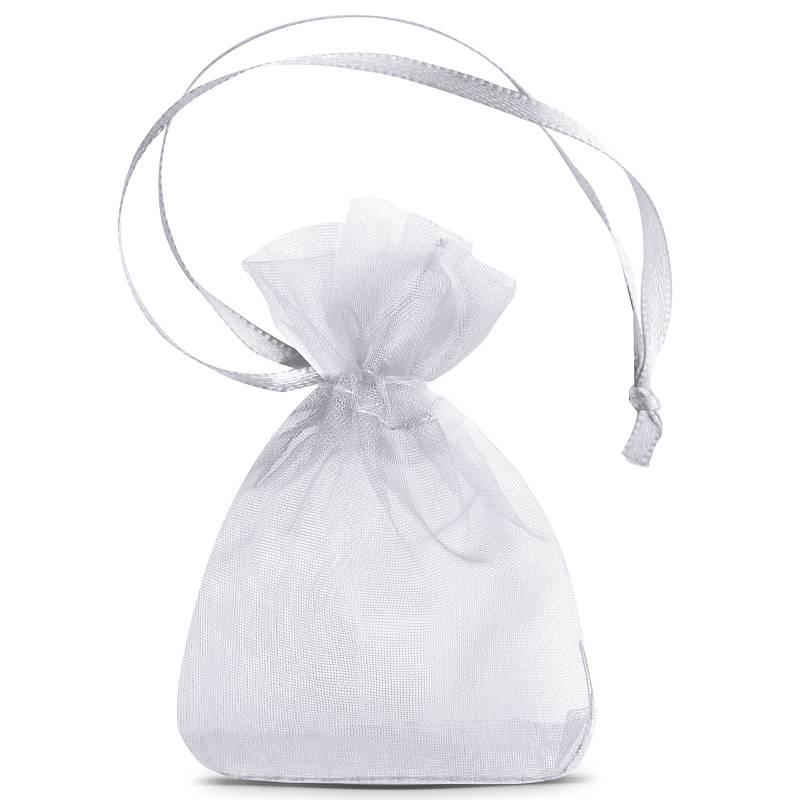 25 uds. Bolsas de organza 7 x 9 cm (SDB) - gris plata Decorativo Bolsas de organza