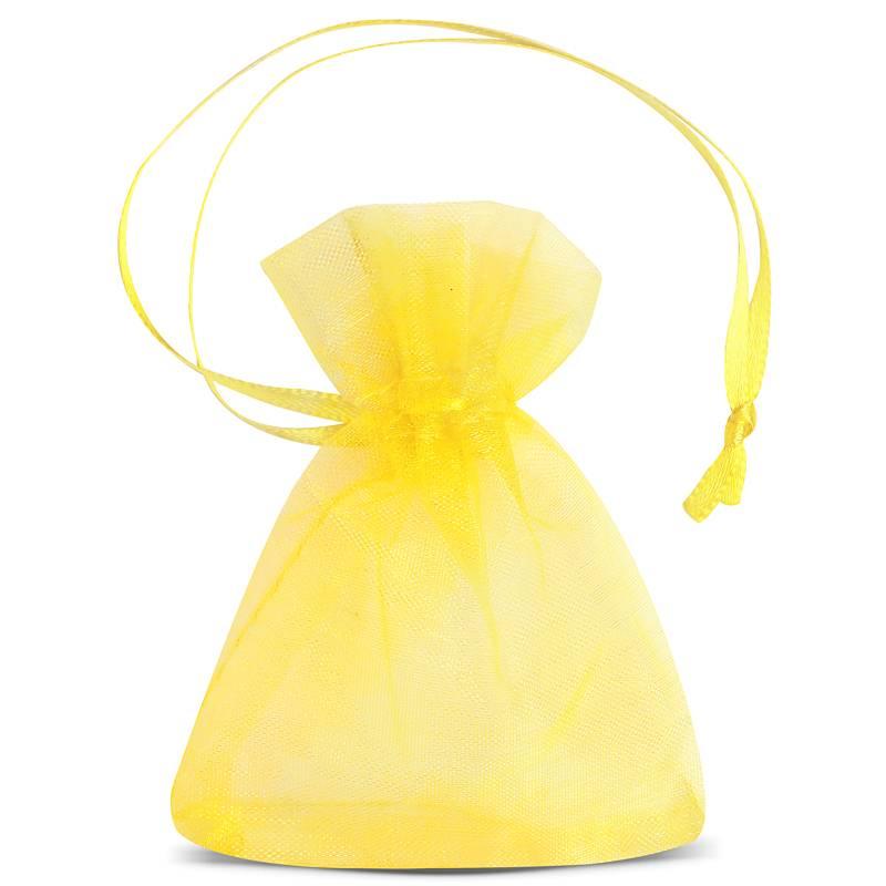 25 uds. Bolsas de organza 7 x 9 cm (SDB) - amarillo