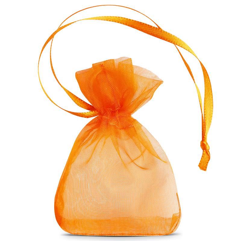25 uds. Bolsas de organza 7 x 9 cm (SDB) - naranja