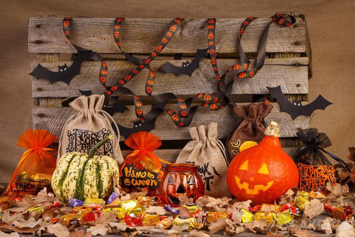 caja para los caramelos de Halloween