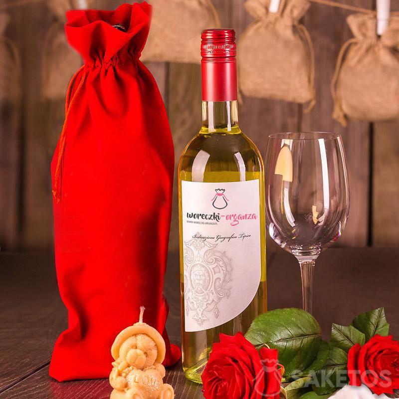 Una bolsa de vino 16x 37 cm
