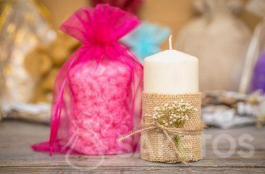 Bolsa de organza es un elegante embalaje de velas