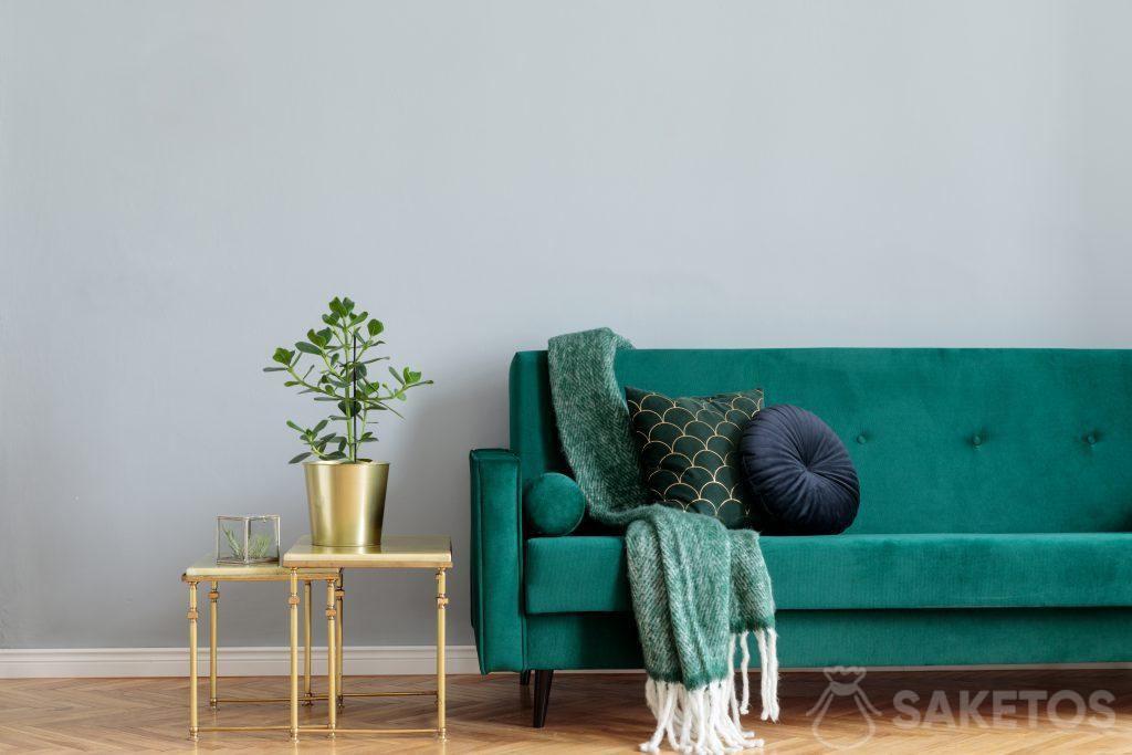 . El material de terciopelo se usa para decoraciones de interiores y la creación de adornos para el hogar