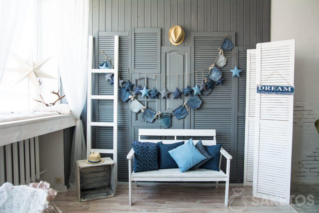 Jeans (Denim) en decoración de interiores