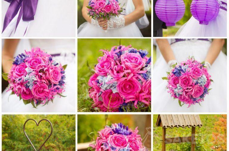 Collage que ayuda a seleccionar los accesorios en el color de la boda