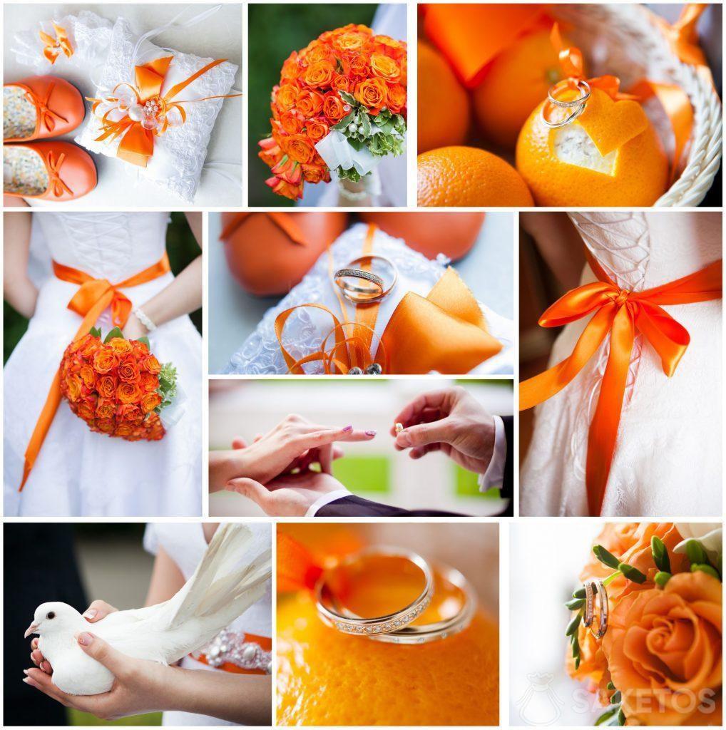 El color de la boda: naranja