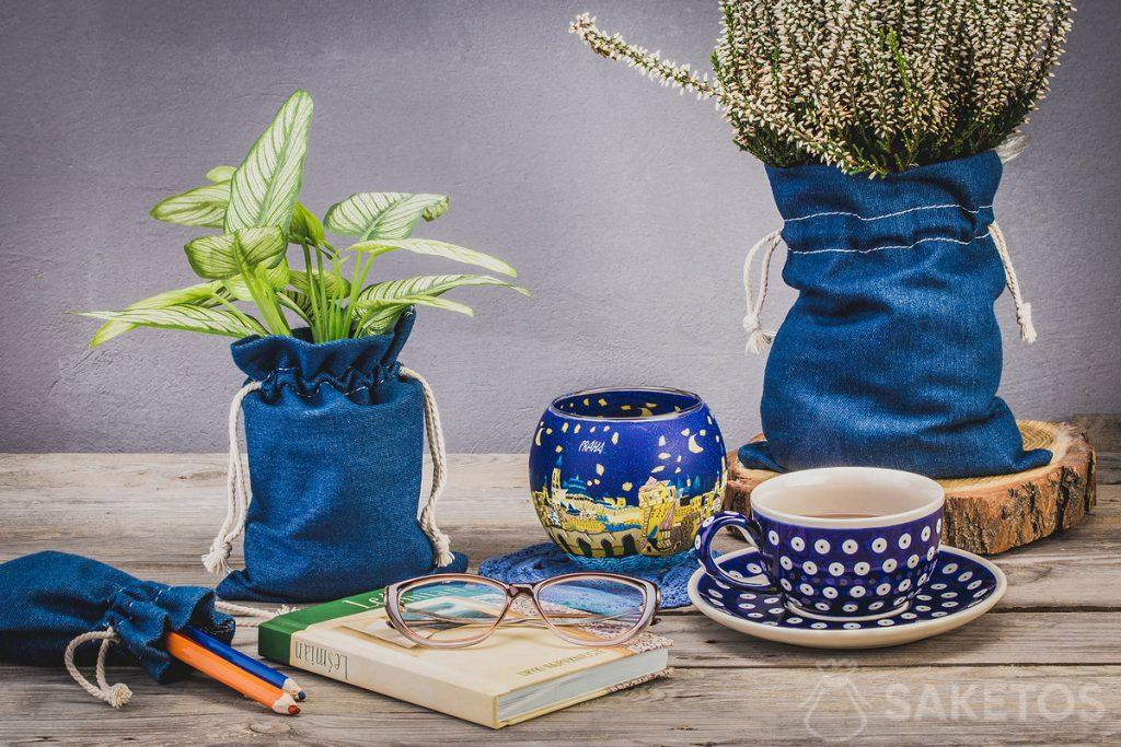 Bolsas de mezclilla para material de oficina y artístico