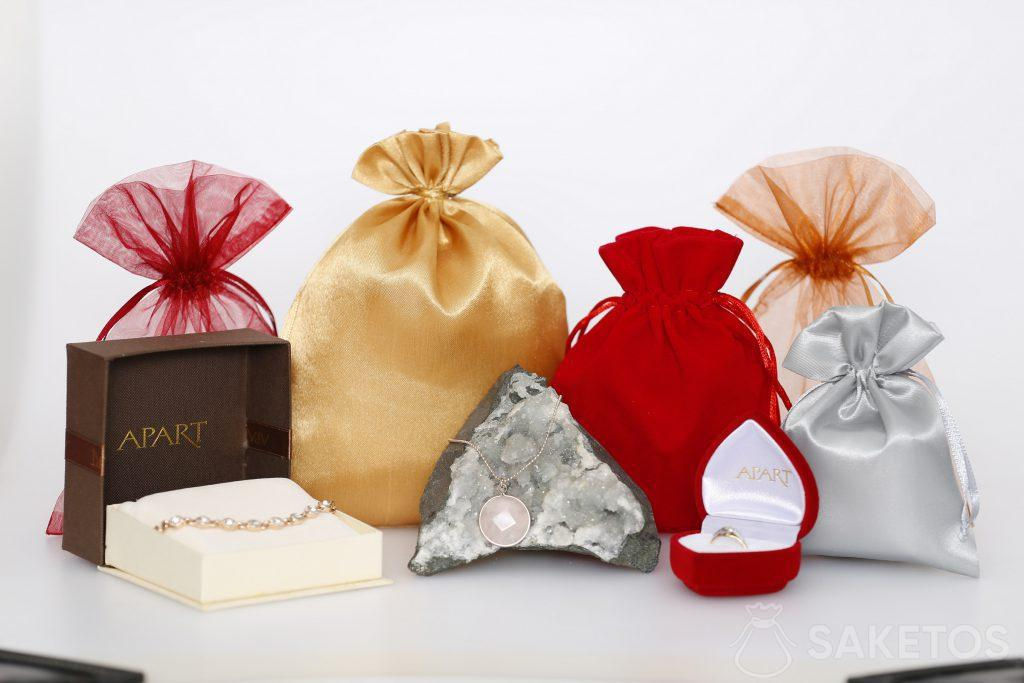 Bolsas de tela para joyería para mujeres