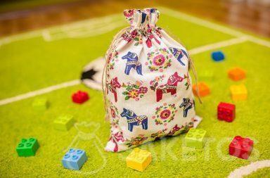 Bolsa decorativa para la habitación infantil para bloques de Lego Duplo