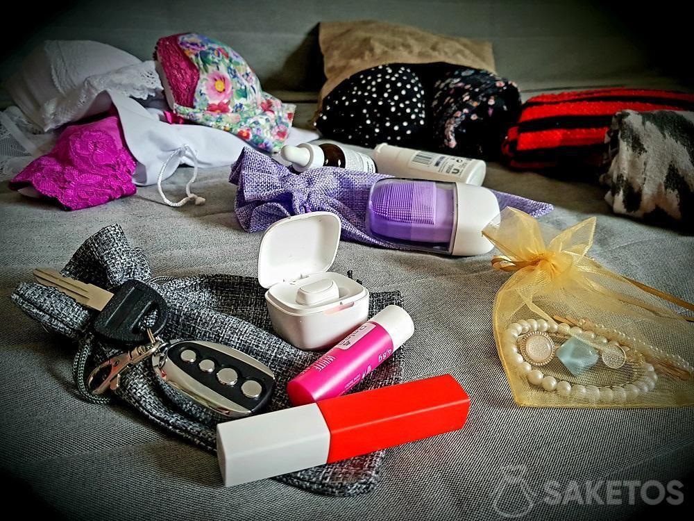 3. Bolsas organizadoras para maleta de viaje.