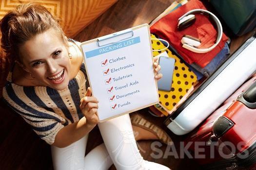 2.Antes de hacer la maleta prepara tu checklist.