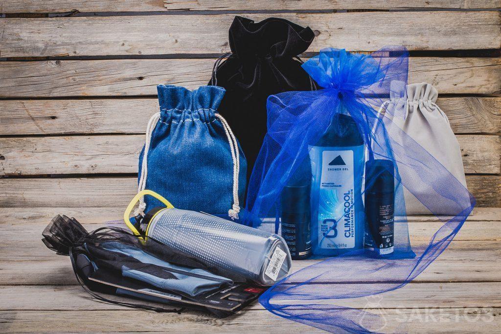 4. ¡Las bolsas de material no son solo un gran embalaje de regalos sino también fantásticos organizadores.