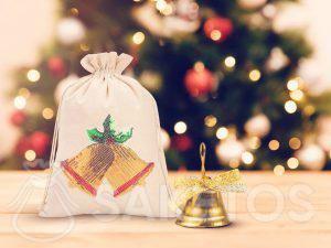 Bolsa navideña con lentejuelas